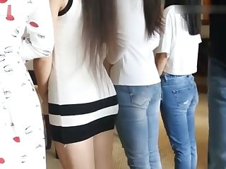 CHinese Girls Spanked Bare Bottom