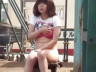 Japanese Teen Gets Caught Masturbating in Public
